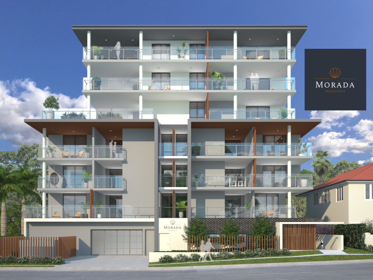 Street view of Morada Apartments, Woody Point, Redcliffe